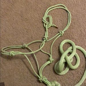 Other - Rope halter with attached lead